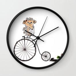 Farthing bike hedgehog Wall Clock