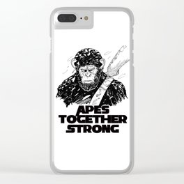 Caesar: Apes Together Strong Clear iPhone Case