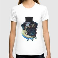 pugs T-shirts featuring Sir Pugs by Bonnie J. Breedlove