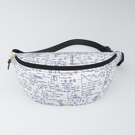 Physics Equations in Blue Pen Fanny Pack