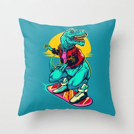 Rex to the future Throw Pillow