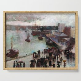 Charles Conder Departure of the Orient Circular Quay Serving Tray