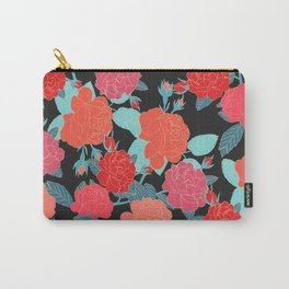Rose Garden - Dark Carry-All Pouch