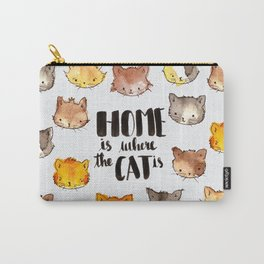 HOME is where the CAT is Carry-All Pouch
