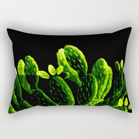 luminous cactus Rectangular Pillow