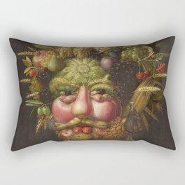 Giuseppe Arcimboldo  -  Rudolf Ii Of Habsburg As Vertumnus Rectangular Pillow