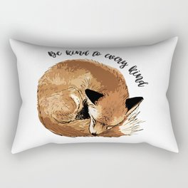 Be kind to every kind - sleeping fox Rectangular Pillow