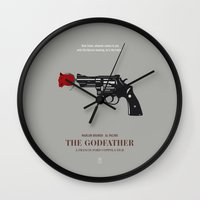 godfather Wall Clocks featuring The Godfather by Smile In The Mind