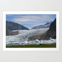 (Disappearing) Glacier Walk Art Print