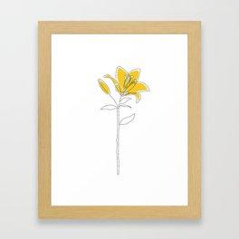 Mustard Lily Framed Art Print
