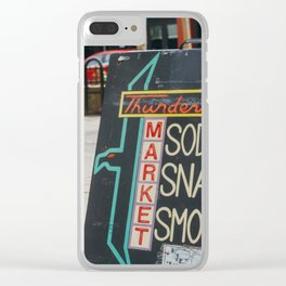 Thunderbird Sign - Eugene, OR Clear iPhone Case