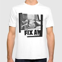 Temporary Fix Mens Fitted Tee MEDIUM White