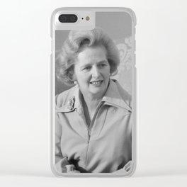 Margaret Thatcher Clear iPhone Case