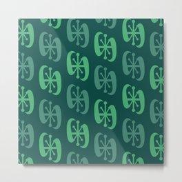 Starburst Bell Peppers Dark Green Metal Print
