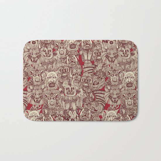 gargoyles red Bath Mat