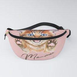 Watercolour meaw kitten Fanny Pack