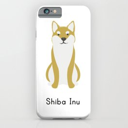 Shiba Inu dog cute illustration t-shirt. For dog lovers. Wear this dog breed t-shirt everywhere. iPhone Case