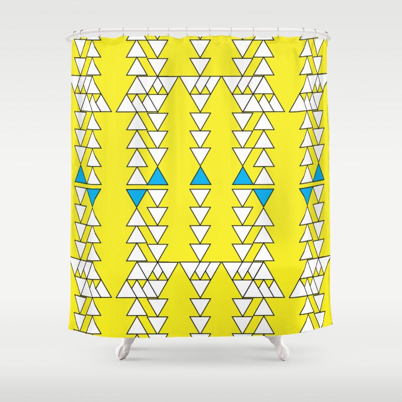 Yellow Shower Curtain -