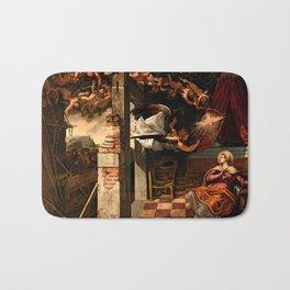 "Tintoretto (Jacopo Robusti) ""The Annunciation"" Bath Mat"