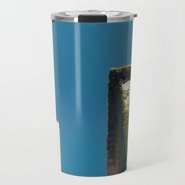 White Square, Green Square, Blue Sky Travel Mug