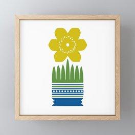 Nordic Yellow Flower Framed Mini Art Print