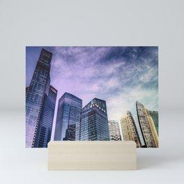 Singapore Buildings Mini Art Print