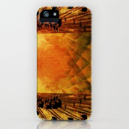 A Day at the Beach in the Quantum Realm iPhone Case