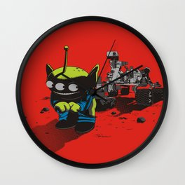 FIRST IMAGE OF MARS Wall Clock