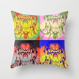 Predator Pop Art Throw Pillow