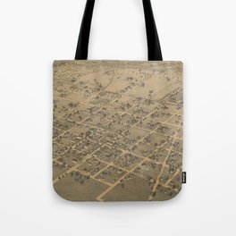 Vintage Pictorial Map of La Grange TX (1880) Tote Bag