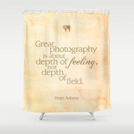 depth of feeling Shower Curtain