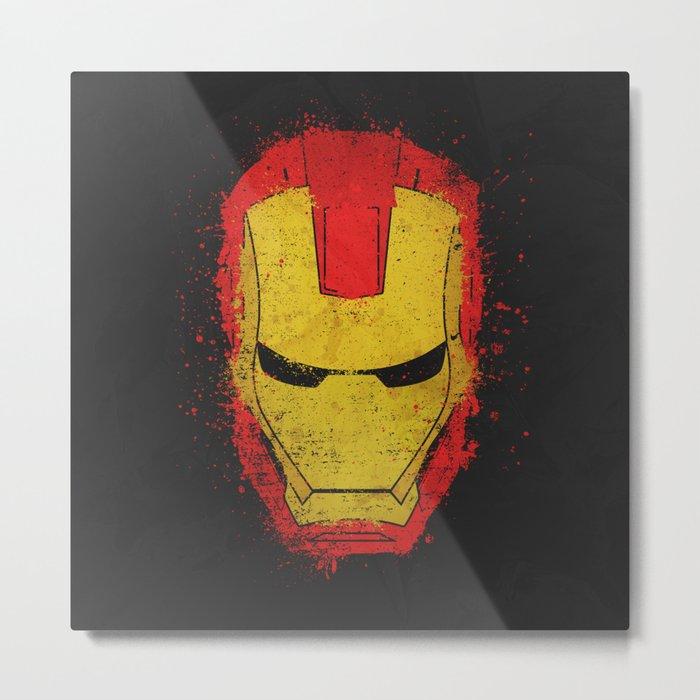 Iron Man splash Metal Print