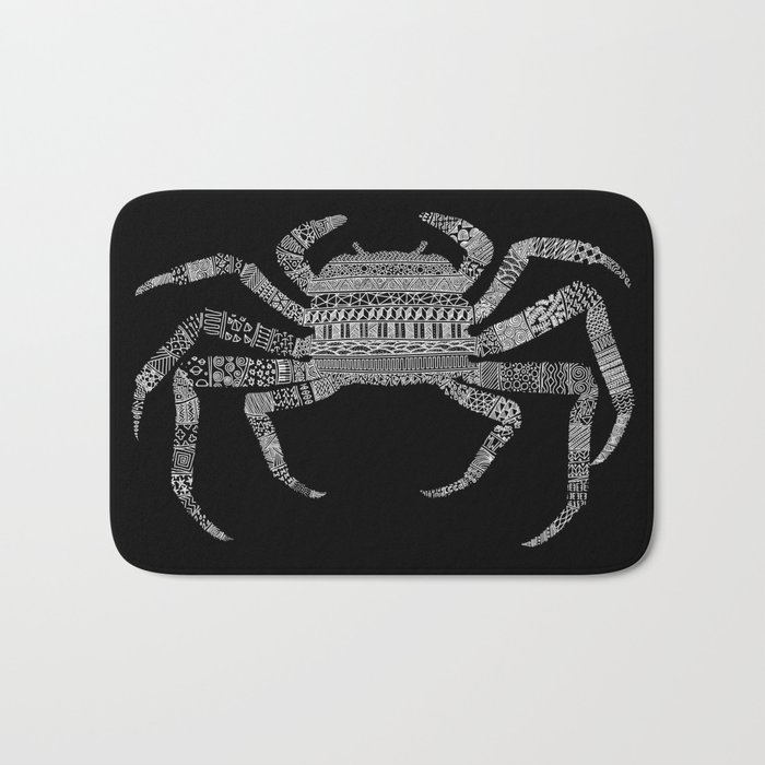 Crab (On Black) Bath Mat