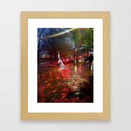 little gemini, with eyes you hide behind Framed Art Print