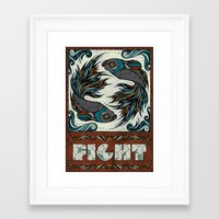 fight Framed Art Prints featuring Fight by Andreas Preis