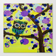 :: Gemmy Owl in the Jewel Tree :: Canvas Print