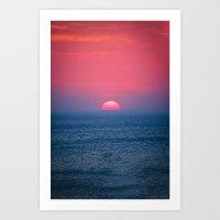A Perfect Sunset Art Print
