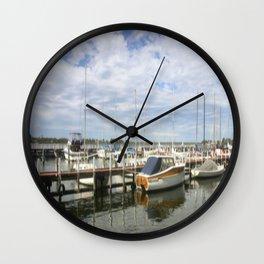 Moored Boats Wall Clock