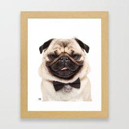 Helmut the Pug - Bow Tie Framed Art Print