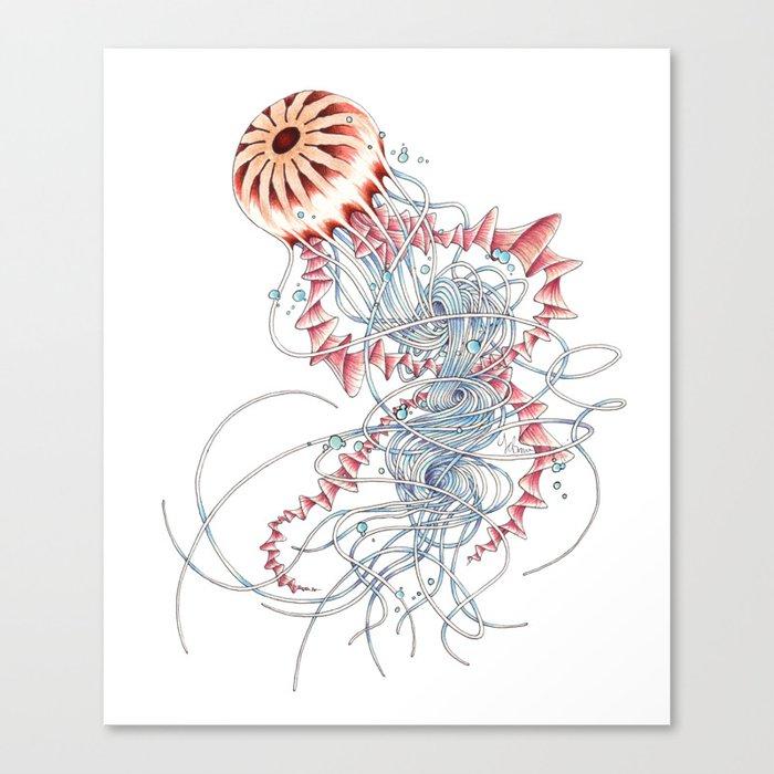 Chrysaora hysoscella Canvas Print