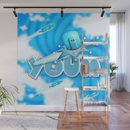 Youm in blue! Wall Mural