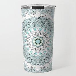 Mandala - Boho - Sacred Geometry - Pastels - Travel Mug