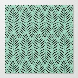 Palm trees in acquamarine Canvas Print