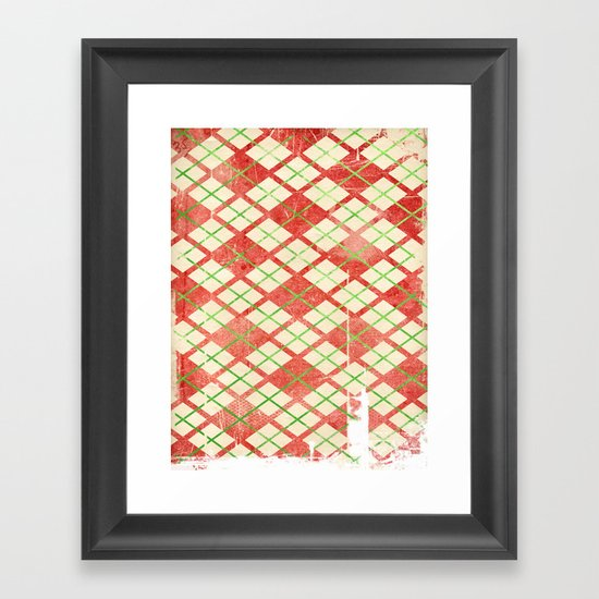 Vintage Wrapping Paper Framed Art Print