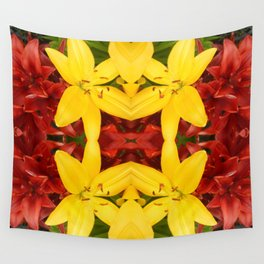 """""""A Gathering of Lilies"""" Remix - 3 (4-1) [D4468~49] Wall Tapestry"""