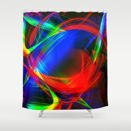 Colorful smoke Shower Curtain