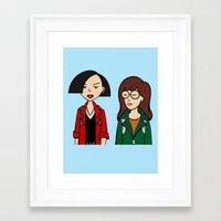 daria Framed Art Prints featuring Daria & Jane by Marianna
