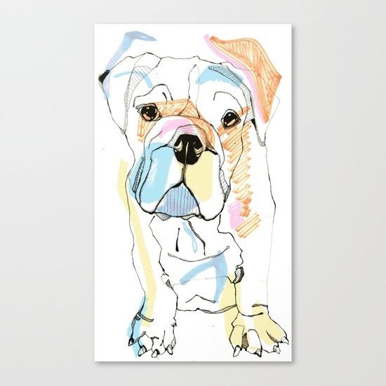 Bulldog Colour Canvas Print