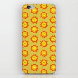 Happy Cartoon Sun Pattern iPhone Skin