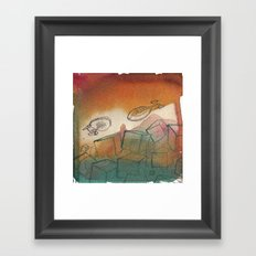 Captain's Migraine Framed Art Print